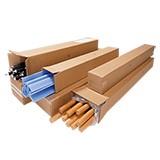 1-welliger langer Karton 0201 seitliche Öffnung  100x100x300 25 Stück