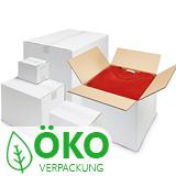 Weiße Kartons aus Wellpappe, 1-wellig