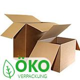 Kartons mit überlappenden Laschen