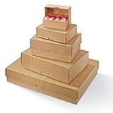 Stülpdeckelkarton braun 305x215x50x1,5mm