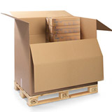 2-welliger Palettenkarton  für 1/2 Europalette 785x590x600mm