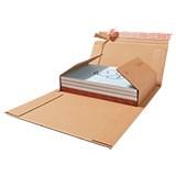 Medienverpackung 1-5CDs braun 147x126x0-55mm