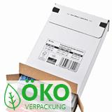 Weiße Großbriefverpackung