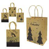 Geschenktasche mit Weihnachtsaufdruck 4er Set